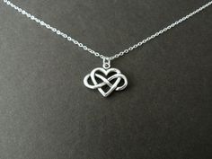 Always Charm Infinity Heart Necklace Sterling Silver by NKDNA