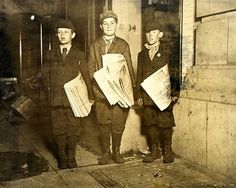 Newsies Out After Midnight, Lewis Hine - 1912, NA306616 from New York Times Store