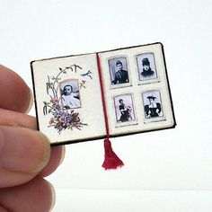 Doll's House Miniature - Victorian Photograph Album (fixed open)