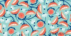 coral + aqua pattern love #coral #aqua