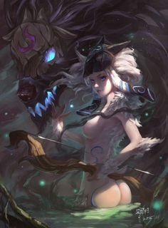 league-of-legends-sexy-girls: Kindred - league of legends & anime