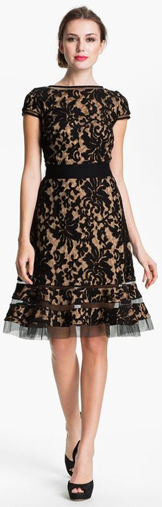 Tadashi Shoji Textured Lace Dress    So cute! Also, judging by my Pinterest board, I need to start getting invited to a lot of cocktail parties.
