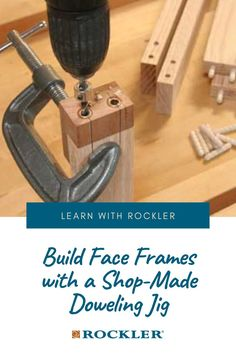 A little scrap and a couple of bushings are all it takes. Let us help you create with confidence here! #CreateWithConfidence #FaceFrames #ShopMade #DowelingJig #ScrapWood Beginner Woodworking Projects, Woodworking Shop, Woodworking Plans, Dowel Jig, Box Joints, Face Framing, Wood Working For Beginners, Crafts To Sell, Helpful Hints