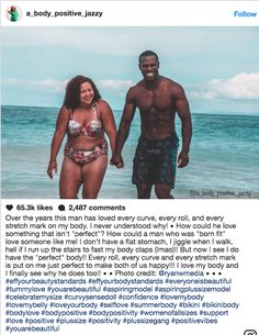 Body Positivity Advocate's Swimsuit Photo Makes A Bold Statement About Couples With Mixed Body Types - body types don't dictate our relationships