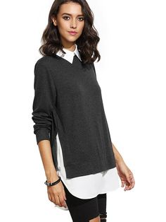 34 Warm And Stylish Tops That Aren t Sweaters. PullsContrast CollarPullover  SweatersWomen s ... 86a6f2c33