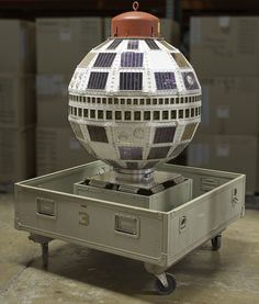 "July 23, 1962: Telstar relayed a live, transatlantic television extravaganza of programming from across the US and Europe, including a news conference by President John F. Kennedy. At the time, television anchor Walter Cronkite noted that the satellite made the ""White House and the Kremlin no farther apart than the speed of light."" Pictured here is a backup spacecraft to Telstar 1 and 2 that's set to become part of our transformed Boeing #MilestonesofFlight Hall."