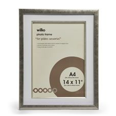 Wilko Champagne Inlay Photo Frame A4