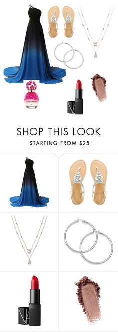 """Blue formal"" by london-charm on Polyvore featuring NARS Cosmetics and Marc Jacobs"