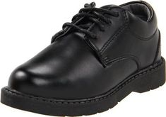 "School Issue (Little Kid/Toddler/Big Kid) Scholar Uniform Shoe,Black Leather,2.5 W US Little Kid School Issue. Save 14 Off!. $44.95. Boot opening measures approximately 0.0000"" around. Leather or suede. Manmade sole. Made in China"