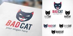 Buy Bad Cat - Logo Template by doghead on Codester. Eye Logo, Cat Eye Nails, Cat Pose, Bad Cats, Diy Canvas Art, Cat Wallpaper, Cute Illustration, Logo Templates, Diy Art