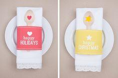 Wedding Friends Christmas Serviette Sleeves Free Printable Chrystalace4