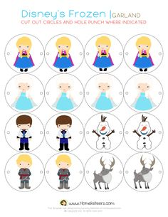 Disney's Frozen Party Printables ~ FREE | Homeketeers