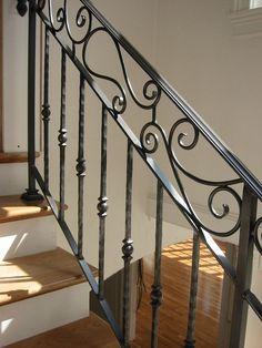image result for how do i put quardrails and hand rails around stairs that dont have wrought iron