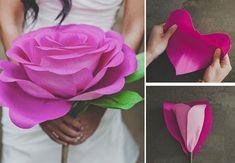 MAKING A VALENTINE PAPER FLOWER