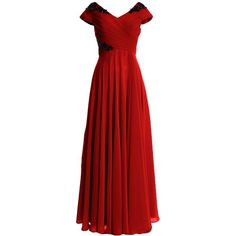 MACloth Women Cap Sleeve Long Mother of Bride Dress Wedding Party... (€135) ❤ liked on Polyvore featuring dresses, gowns, mother of the bride evening dresses, long formal gowns, formal gowns, red formal dresses and long formal dresses