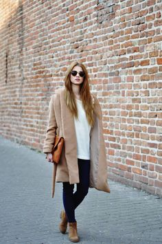 suede boots with casual outfit and coat