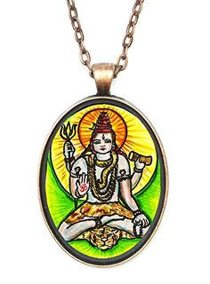 Shiva of Supreme Consciousness Huge 30x40mm Amulet Talisman Antique Copper Pendant -- See this great product.