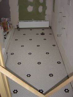 New Hex Tile Floor - Old House Forum - GardenWeb http://www.pbase.com/lauren674/bathroom_update=all