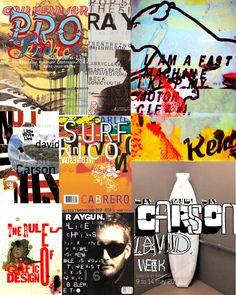 Graphic design: David Carson = Inspiration