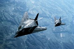 USAF Lockheed F-117A 'Nighthawk' stealth attack aircraft in flight - Ross Harrison Koty/Getty Images