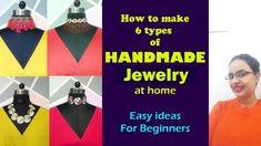 6 types of Handmade Jewelry Diy Jewelry Tutorials, Diy Fashion, Budgeting, Handmade Jewelry, English, Type, Learning, How To Make, Accessories