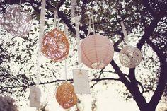 Lanternas de papel na decoração da festa | Gabi Chanas