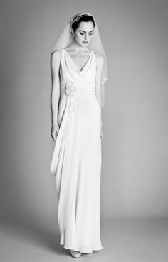 The Chloe dress with heart shaped veil. Collection, 2012 - www.temperleylondon.com