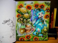 Fairy Coloring, Adult Coloring, Coloring Books, Coloring Pages, Markova, Color Pencil Art, Prismacolor, Pencil Drawings, Colored Pencils