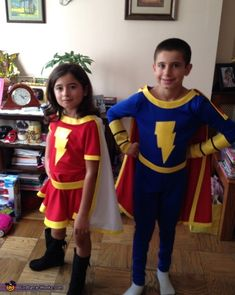 Mary Marvel and Captain Marvel Jr - 2013 Halloween Costume Contest