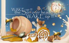 Wake Up! Wake Up, Honey, Milk, Wallpaper, Breakfast, Tableware, Morning Coffee, Dinnerware, Wallpapers