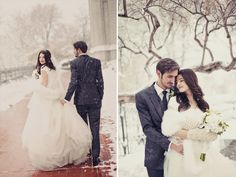 Winter Wedding Photography. #outdoorphotography #snow