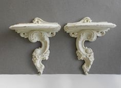 WALL SHELVES  Vintage  Ornate Accent Shelf  by MollyMcShabby