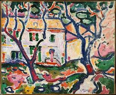 House Behind Trees, 1906-07, Georges Braque,  (1882–1963).  Held at the Met, NYC.