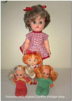 Διάφορες κούκλες από τις δεκαετίες 1970's και 1980's.