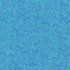 Caterwauling Tales Flourish Blue by Sue by Loriscountryfabrics, $8.95