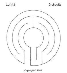 Lunita Labyrinth, 3 circuits