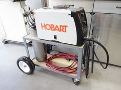 This is a simple welding cart I made to hold my new welder.This was my first welding project ever. If you're taking the leap into teaching yourself to weld, I. Welding Cart, Welding Jobs, Metal Welding, Diy Welding, Welding Ideas, Welding Table, Welding Certification, History Of Welding, Welding Classes