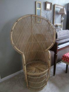 Superb Vintage Wicker Fan Chair By 1040WindowShop On Etsy