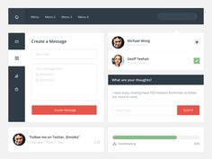 Obscure PSD UI Kit by by Michael Wong