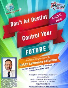 Don't let Destiny Control Your Future