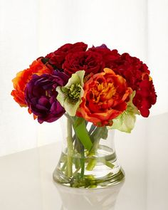 H7WYQ John-Richard Collection Gather a Bouquet Faux-Floral Arrangement