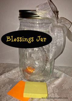 Blessings Jar - A great way to start the new year or perfect wedding gift