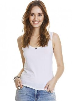 Odd Molly hvid top 317M-373 Exploring Tank Top - bright white