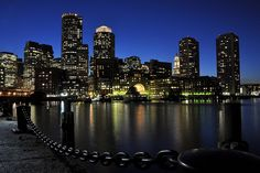"""Waterfront Twilight."" Boston's Waterfront (uh, at twilight)"