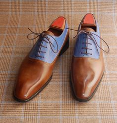 Two Tone Balmoral Oxford on Wool & Cashmere Glen Urghart