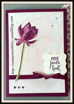 Merci Pour tout Thank You card made with Sale a Bration Irresistibly Yours Specialty paper and Tant de Joie stamps