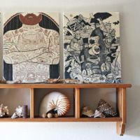 Tutorial: Recycled T-Shirt Canvas — Modern Art - what a great way to use awesome and beloved shirts past their prime
