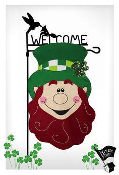 St. Patty's Day Leprechaun Garden Flag | Decorative St. Patrick's Day Flag | HouseFlags.com