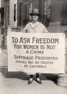 March is Women's History Month - Woman Suffrage Pickets, 1917 #whm