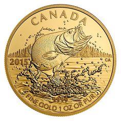 Canada 200 Dollars Gold Coin 2015 Largemouth Bass